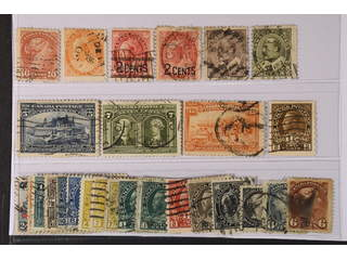 Canada. Used 1870–1922. All different, e.g. Mi 31, 70, 75-76, 81-82, 87-88, 90, 102D. …