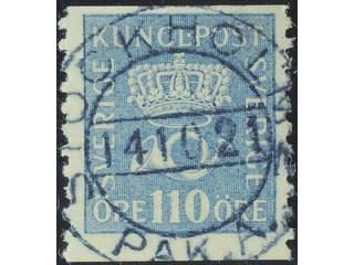Sweden. Facit 169 used , 110 öre light blue. EXCELLENT cancellation STOCKHOLM 14.10.21. …