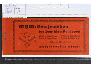 Germany Reich. Booklet Michel MH46 ★★ , 1939 Buildings 2 Reichmark. EUR130