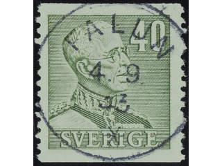 Sweden. Facit 281 used , 1940 Gustaf V large numerals 40 öre olive-green. EXCELLENT …