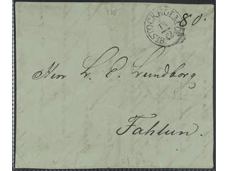 Sweden. A county. STOCKHOLM 13.12.1830, arc postmark. Type 1 on cover front sent to …
