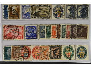Germany Reich. Used 1925–33. All different, e.g. Mi 405-06, 423-24, 433, 452, 455, 461, …