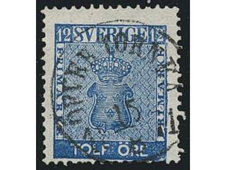 Sweden. Facit 9c3, BD county. ÖFVER TORNEÅ 15.8.1871, circle cancellation. A few short …