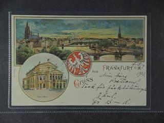 Germany Reich. PostcardGruss Aus. Frankfurt, used card sent from FRANKFURT (MAIN) 9 …