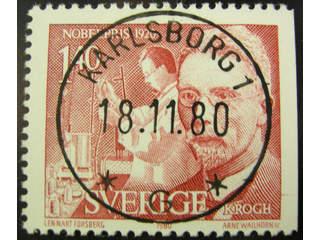 Sweden. Facit 1147 used , 1980 Nobel prize 1920 1.40 Kr red. EXCELLENT cancellation …