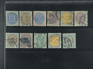 Denmark. Used 1870–1905. All different, e.g. F 20, 23, 30, 36-37, 44, 47-48, and 50. …