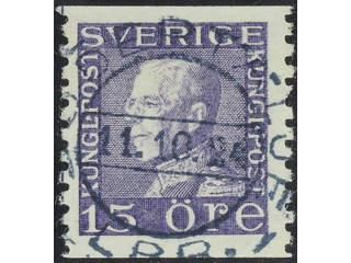 Sweden. Facit 175A used , 15 öre violet vertical perf. EXCELLENT cancellation SÖDERTÄLJE …