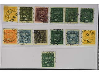 Sweden. Used 1920–33. Coilstamps Crown.All different, e.g. F 156cxz, 159bz, 162cx, …