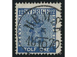 Sweden. Facit 9, I county. HEMSE 5.10.1870, circle cancellation. Postal:250:-