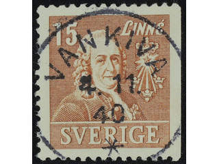 Sweden. Facit 321B used , 1940 Royal Academy of Sciences 15 öre brown. EXCELLENT …