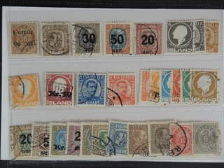 Iceland. Used 1876–1922. All different, e.g. F 54, 83, 101-02, 106, 111, 113, 122v, 134, …