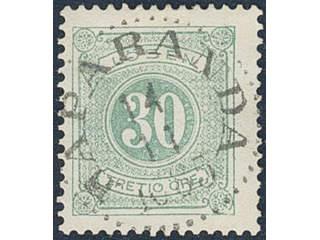 Sweden. Postage due Facit L18c used , 30 öre light bluish green, perf 13. EXCELLENT …