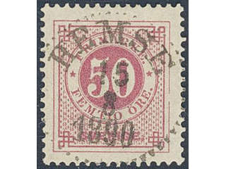 Sweden. Facit 48d used , 50 öre dull carmine on yellowish paper. EXCELLENT cancellation …