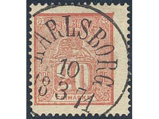 Sweden. Facit 16 used , 20 öre red. Superb cancellation KARLSBORG 10.3.1871.