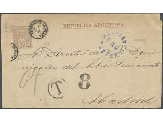 Argentina. Postal stationery 1880Wrapper to some sort of printed matter from La Plata to …