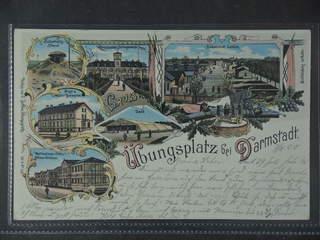Germany Reich. PostcardGruss Aus. Darmstadt, used card sent from DARMSTADT 7.8.00 to …