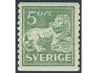 Sweden. Facit 140A ★★ , 5 öre green, type I, perf on two sides. Superb.