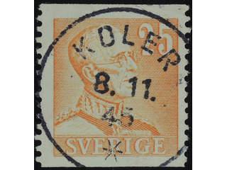 Sweden. Facit 277 used , 1940 Gustaf V large numerals 25 öre orange. EXCELLENT …
