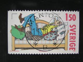 Sweden. Facit 1144 used , 1980 Comics 1.50 Kr multicoloured. EXCELLENT cancellation …