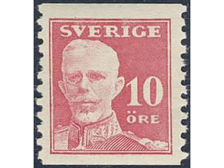 Sweden. Facit 149A ★★ , 1920 Gustaf V full face 10 öre red, perf on two sides. SEK900