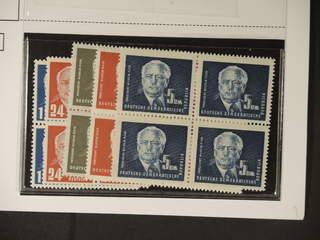 Germany GDR (DDR). Michel 251–55 ★★/★ , 1950 President Pieck SET (4). In BLOCKS OF FOUR …