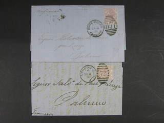 Britain. Michel 40x cover , 1875 Queen Victoria wmk Small Anchor 2½ d rosy mauve, white …