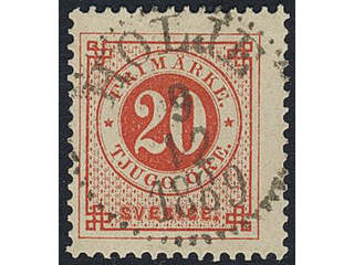 Sweden. Facit 46d, K county. HOLJE 9.12.1889.