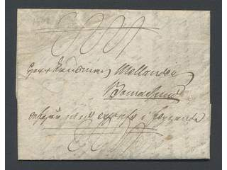 Finland Åland. Feather letterCrown post letter with residue of one feather in seal on …