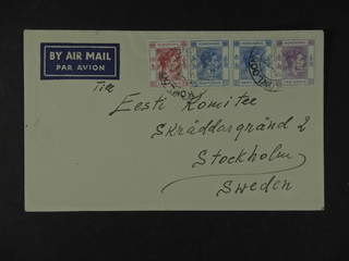 Hong Kong. Michel 144, 151, 154 cover , 10, 30 in pair and 80 C on air mail cover to …