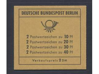 Germany Berlin. Booklet Michel 8b ★★ , 1972 Accident prevention with commercials for …