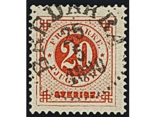Sweden. Facit 46, K county. BREDÅKRA 25.5.1890. Postal:175:-