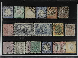 Germany Reich. Used 1872–1900. All different, e.g. Mi 5, 17, 22, 26, 29, 35, 37 (ink …