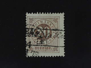 Sweden. Facit 33. FRANCE. French boxed cancellation FRENCH TROUVE`A LA BOITE (= Found in …