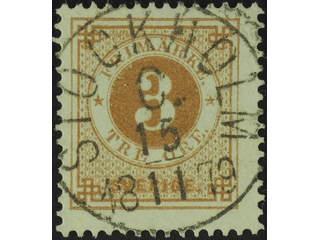 Sweden. Facit 28e used , 3 öre orange-brown, clean distinct print. EXCELLENT …