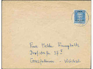 Germany Reich. Michel 409 cover , 1927 I.A.A. 25 Pfg blue single on cover 15.11.27.