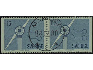 Sweden. Facit 1113BB used , 1980 Renewable Sources of Energy 1.15 Kr grey-blue pair. …