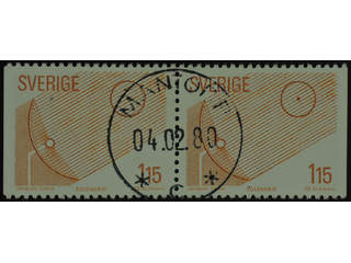 Sweden. Facit 1115BB used , 1980 Renewable Sources of Energy 1.15 Kr red-brown pair. …