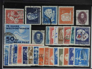 Germany GDR (DDR). Used 1949–51. All different, e.g. Mi 242, 250, 255, 258-59, 268, 270, …