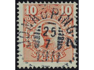 Sweden. Facit 76 used , 10 öre red, watermark crown. EXCELLENT cancellation JÖNKÖPING 2 …