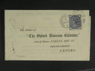 Britain. Michel 72 cover , 1884 Queen Victoria ½ d slate-blue, watermark Imperial Crown …