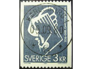 Sweden. Facit 1134 used , 1980 Viking Eggeling 3 Kr blue-grey (1). EXCELLENT …