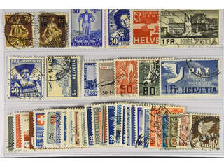Switzerland. Used 1908–45. All different, e.g. Mi 108, 127, 297, 309-10, 324, 362, 394, …