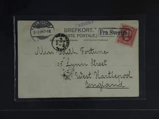 Sweden. Facit 54. DENMARK. Danish boxed cancellation FRA SVERIGE (Helsingborg–Helsingør …