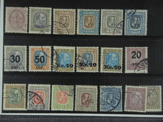 Iceland. Used 1876-1930. All different, e.g. F 17, 72, 83, 88, 95, 97, 101-03, 107v,. …