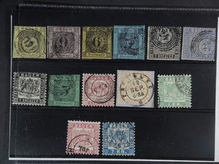 Germany Baden. Used 1851-1868. All different, e.g. Mi 3-4, 7-10, 17, 20, 25. Mostly good …