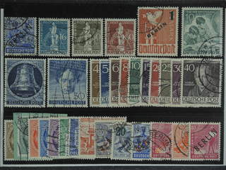 Germany Berlin. Used 1948-53. All different, e.g. Mi 13, 36, 38-39, 67, 80, 85, 87, …