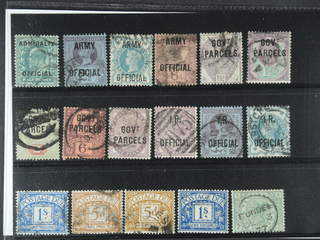 Britain. Used 1883-1902. Back-of-the-book, All different, e.g. Mi Officials 1 II, 11, …