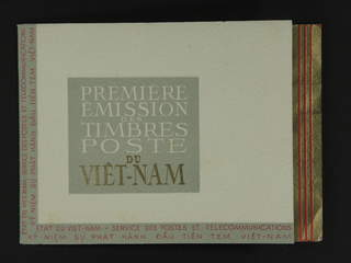 Vietnam Bao Dai. Local fee stamp used , 1951 Landscapes. Booklet with the five blocks, …