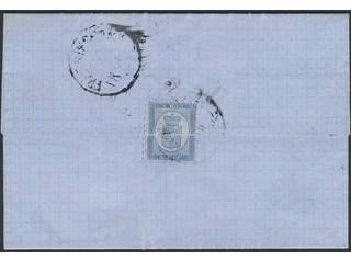 Finland. Facit 3C1 cover , 1860 Coat-of-Arms Russian values 5 k blue. Letter sent 1862 …