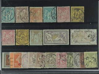 France. Used 1876–1924. All different, e.g. Mi 57 II, 59 I, 62 I, 65 I, 66 II, 75, 81 I, …
